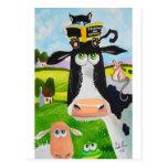 Animales lindos que pintan la rana de ovejas del g tarjeta postal