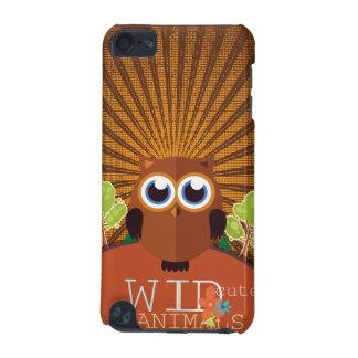 Animales lindos salvajes - búho carcasa para iPod touch 5