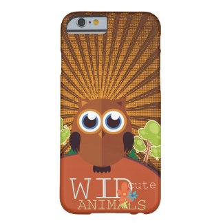 Animales lindos salvajes - búho funda de iPhone 6 barely there