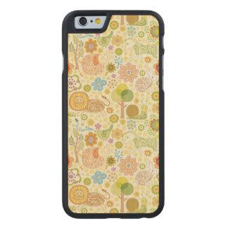 Animales Funda De iPhone 6 Carved® De Arce