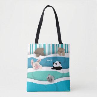 Animales soñolientos bolsa de tela