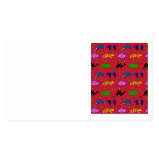 Animales - tortugas púrpuras y elefantes azules tarjeta de visita