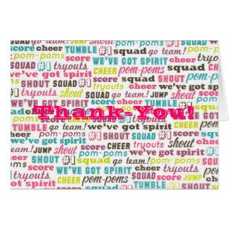Animar el de agradecimiento Notecards de los refra Felicitación