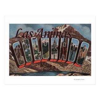Animas de Las, Colorado - escenas grandes de la Tarjeta Postal