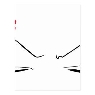 Anime Angry Face Postal