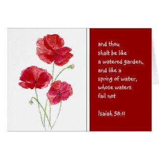 Anime el jardín de la amapola de Isaías de la Tarjeta De Felicitación