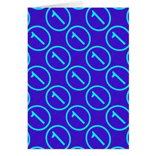 Anime la excelencia: Azul de NumberONE Tarjeta