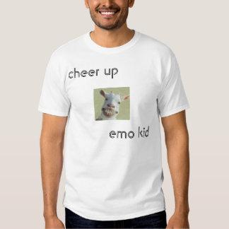anime para arriba al niño del emo camiseta