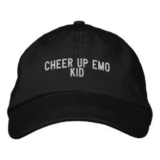anime para arriba al niño del emo gorra de béisbol