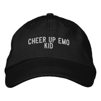 anime para arriba al niño del emo gorra de béisbol bordada