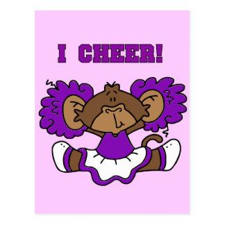 Animo las camisetas y los regalos púrpuras y postal