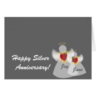 Aniversario # 25-Customize Tarjeta De Felicitación