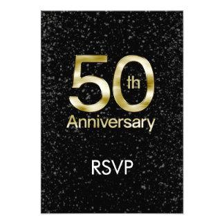 Aniversario atractivo del oro 50.o anuncio