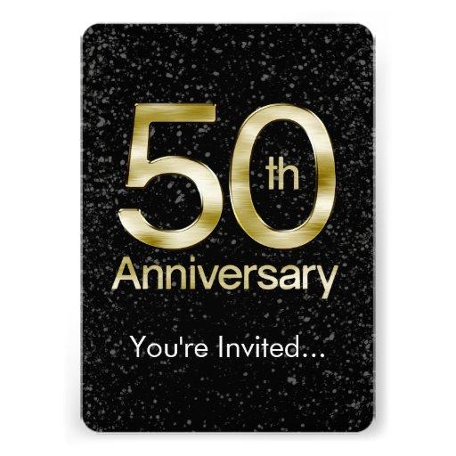 Aniversario atractivo del oro 50.o invitacion personalizada
