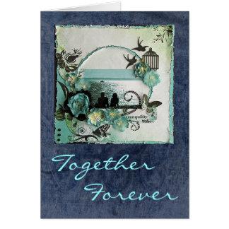 Aniversario boda compromiso felices - vintage felicitación