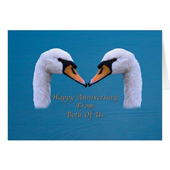Aniversario, boda, nosotros dos tarjeta de felicitación