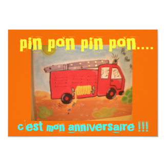 aniversario bomberos invitación 12,7 x 17,8 cm