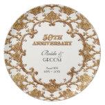 Aniversario conmemorativo del remolino de oro del  platos de comidas