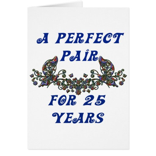Aniversario de 25 años tarjetón