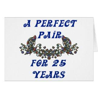 Aniversario de 25 años felicitacion