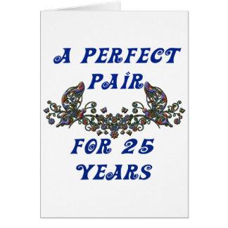 Aniversario de 25 años tarjeta de felicitación