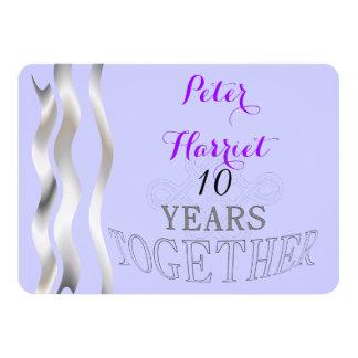 Aniversario de boda 10 invitación personalizada