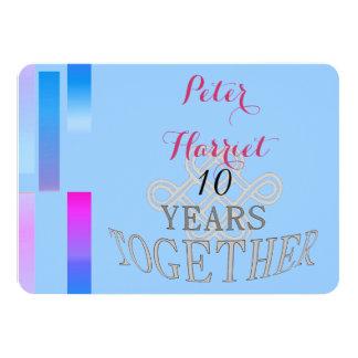 Aniversario de boda 10 anuncio personalizado