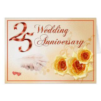 Aniversario de boda 25 tarjetón