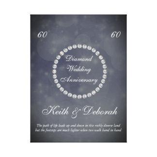 Aniversario de boda adaptable de diamante lienzo