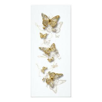 Aniversario de boda blanco del compromiso del oro invitación 10,1 x 23,5 cm