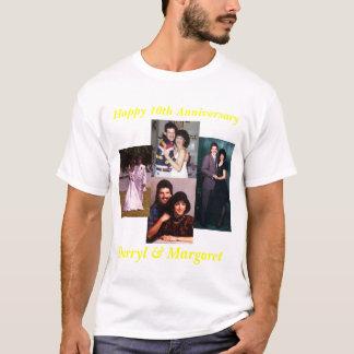 Aniversario de boda de 10 años camiseta
