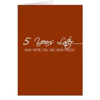 Aniversario de boda de 5 años felicitación