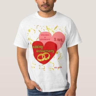 Aniversario de boda de encargo camiseta