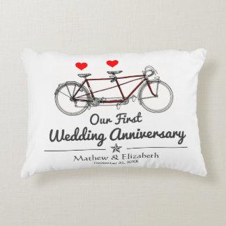 Aniversario de boda de encargo de la bicicleta en