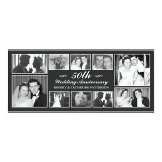 Aniversario de boda de la celebración 50.a de la invitación 10,1 x 23,5 cm