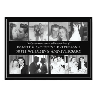 Aniversario de boda de la celebración 50.a de la invitación 12,7 x 17,8 cm