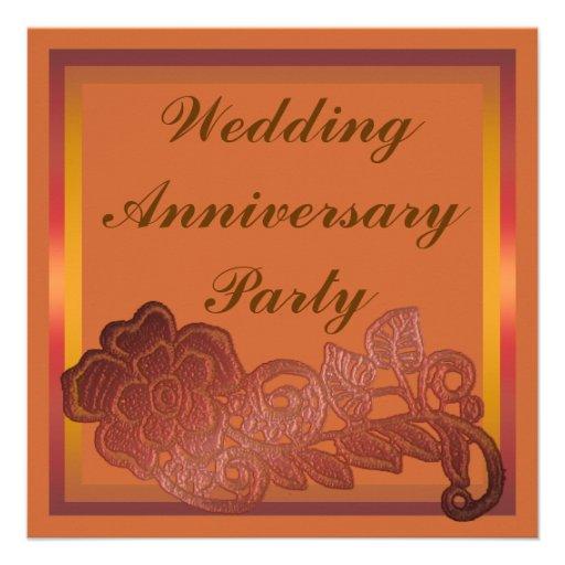 Aniversario de boda de la flor comunicados