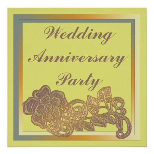 Aniversario de boda de la flor comunicados personales