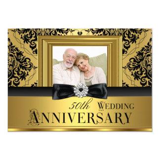 Aniversario de boda de la foto 50.a del arco del invitación 12,7 x 17,8 cm