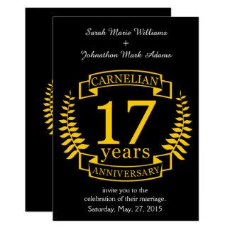 Aniversario de boda de la piedra preciosa del invitación 12,7 x 17,8 cm