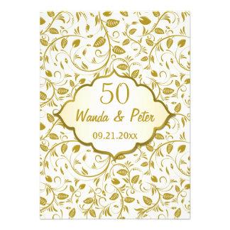 Aniversario de boda de oro de las hojas 50 as comunicados personalizados