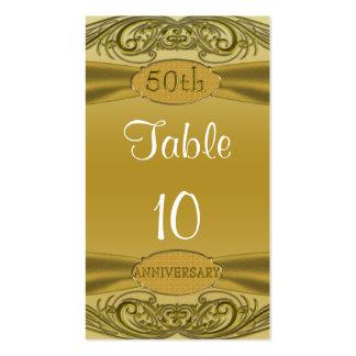 Aniversario de boda de oro de las volutas 50.as tarjetas de visita