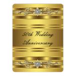 Aniversario de boda de oro del oro elegante 50.o comunicado