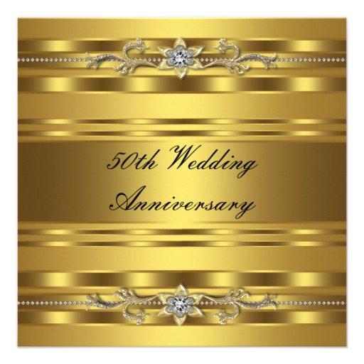 elegant gold 50th wedding anniversary
