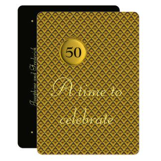 Aniversario de boda de oro invitación 12,7 x 17,8 cm