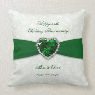 Aniversario de boda del damasco 55.o cojín decorativo
