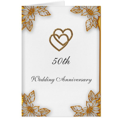 50th Wedding Anniversary Card Templates