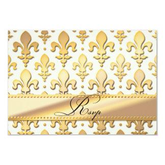 Aniversario de boda del oro de RSVP, flor de lis Invitación 8,9 X 12,7 Cm