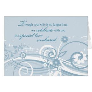 Aniversario de boda del viudo después de la tarjeta de felicitación