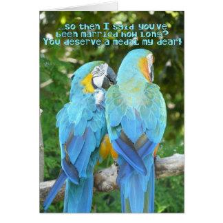 ¡Aniversario de boda divertido! - Humor azul del l Felicitacion